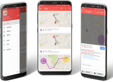 Journey Organizer on Android Phone